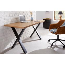 riess-ambiente Schreibtisch LOFT 140cm natur, im Industrial Design