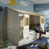 Infankids Infanskids Abenteuerbett Beach-Hütte Kiefer massiv weiß laugenfarbig abgesetzt 90 x 200 cm Spielbett