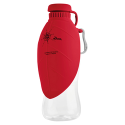 Hunter Outdoor Trinkflasche mit Silikonnapf List rot
