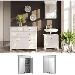 VICCO Spiegelschrank ALBATROS Weiß Spiegel Badspiegel Bad Wandspiegel Badezimmer