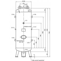 DB VZ 250/16 V - Druckluftbehälter