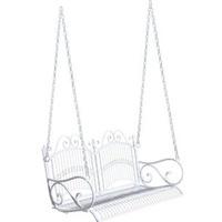 Outsunny Hängebank 118 x 58 x 57 cm weiß 2-Sitzer