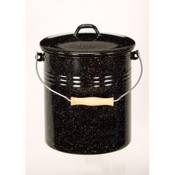 Krüger Mülleimer schwarz Küchenhelfer Haushaltswaren