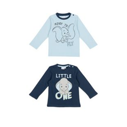 Baby Lizenz T-Shirt Langarm 2er Dumbo Gr. 62/68