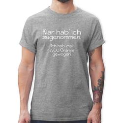 Shirtracer T-Shirt Klar hab' ich zugenommen - Herren Premium T-Shirt M
