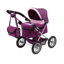 MyToys-COLLECTION Puppenwagen Puppenwagen Trendy pink/blau lila