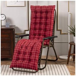 YOUCAI Auflage für Deckchair Liege-Stuhl Polster-Auflage Weich Und Bequem Dicker Bezug für Den Außengebrauch,48x120cm,Rot 1