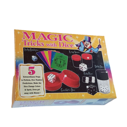 magic-man1001 Zauberkasten 5 Zaubertricks mit Würfel - Zauberkasten Zaubertrick Set Würftricks