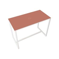 PAPERFLOW Stehtisch, mit PVC-Kanten, kleiner Druck in der Mitte rot 150 cm x 110 cm x 75 cm