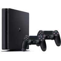 PS4 Slim 500GB schwarz + 2x DualShock 4 Wireless Controller