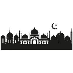 Wall-Art Wandtattoo Skyline Islamische Stadt 120cm (1 Stück)