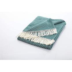 Tagesdecke Edle und kuschelige Decke mit Fransen, søstre & brødre grün