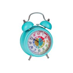 ONVAYA Kinderwecker Kinderwecker, Lernuhr für Kinder, Wecker ohne Ticken, Lernwecker mit Licht & Musik, Quarzwecker, Glockenwecker, Kinderuhr Spielzeug für Jungen & Mädchen blau