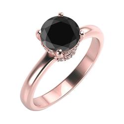 Verlobungsring mit schwarzem und weißen Diamanten Leyson
