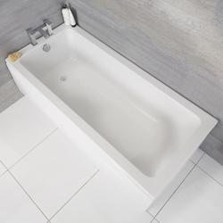 Einbau-Badewanne Rechteckbadewanne 1800mm x 800mm - ohne Panel, von Hudson Reed