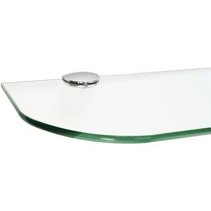 ib style® Glasregal 6 mm Ablage Wandregal Glasboden Badregal Glas INKL.CLIPS