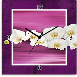 Artland Wanduhr Orchideen - violett