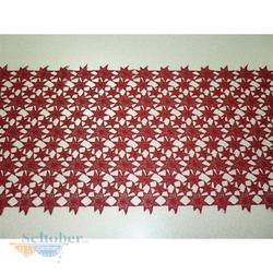 Deko Stoff Tischläufer Tischband Weihnachtsstern rot B 40 cm, Meterware