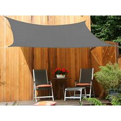 Vierecksonnensegel anthrazit 250 x 300 cm mit Regenschutz