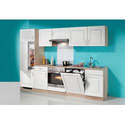 wiho Küchen Küchenzeile Tilda, mit E-Geräten, inkl. Geschirrspüler, Breite 280 cm