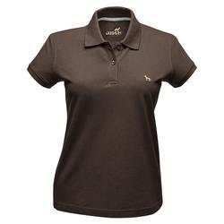 Hunter Damen-Poloshirt braun, Größe: L