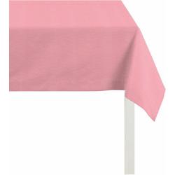 APELT Tischdecke 4362 Rips - UNI (1-tlg) rosa quadratisch - 100 cm x 100 cm
