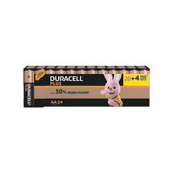 Duracell PLUS Batterie, (24 St), AA, lange Lebensdauer