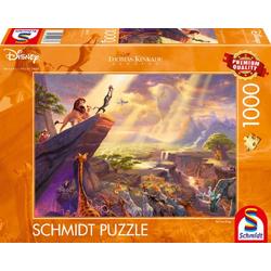Schmidt Spiele Puzzle Thomas Kinkade König der Löwen 1000 Teile Puzzle, Puzzleteile bunt