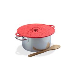 relaxdays Überkochschutz Überkochschutz Silikon rot
