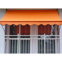 Klemmmarkise Design Uni Orange PE