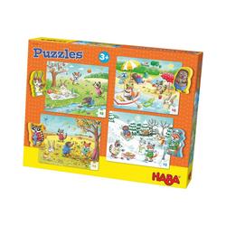 Haba Puzzle Puzzle-Set 4 x 15 Teile - Jahreszeiten, Puzzleteile