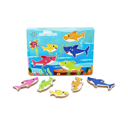 Spin Master Steckpuzzle Spin Master Games Baby Shark Sound-Puzzle, Puzzleteile