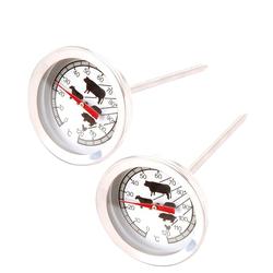 BigDean Backofenthermometer Fleischthermometer Bratenthermometer Grillthermometer Backofenthermometer analog, 2-tlg.