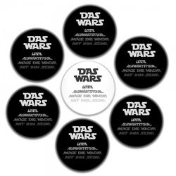 "Buttons SET Junggesellenabschied ""DAS WARS"" (ø 37 mm rund - 7 Stück)"