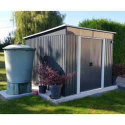 Gartenhaus aus Metall 6,67m² Skylight anthrazit + Verankerungskit X-METAL