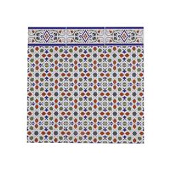 Casa Moro Fliesenaufkleber Marokkanische Wandfliese Rayhan 28x14 cm 0,98 m², Maurische Relief-Fliesen aus Keramik, Schöne Wandfliesen für Küche Bad & Küchenrückwand, FL3050