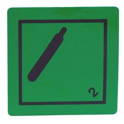 50 Stück Gefahrgutaufkleber 5x5 cm Klasse 2