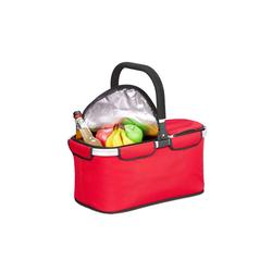 relaxdays Einkaufskorb Faltbarer Einkaufskorb mit Kühlfunktion rot