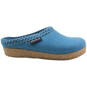 HAFLINGER 711053 Grizzly Zigzag Damen Hausschuhe Pantoffeln, Größe:42 EU, Farbe:Türkis