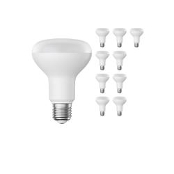 E27 R80 LED Reflektor-Leuchtmittel 9,5W =63W 850lm warm-weiß A+ für innen und außen , 10 Stk.