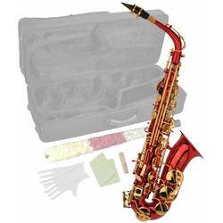 Steinbach Saxophon Steinbach Eb Alt-Saxophon in Rot mit hohem FIS