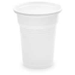 Trinkbecher Getränkebecher weiß 100 ml PP, Ø 57 mm, 100 Stk.