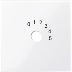Merten 452025, Zentralplatte für Programmwahlschalter, aktivweiß glänzend, System M