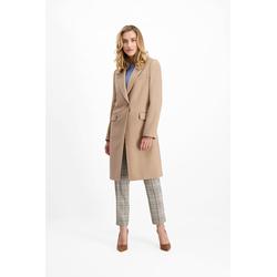 Lavard Klassischer camelfarbener Mantel für Damen 85536  42