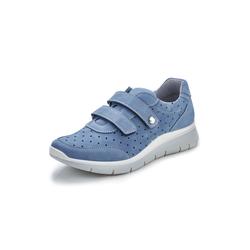 Avena Damen Wohlfühl-Klett-Sneaker Blau 36, 37, 38, 39, 40, 41, 42