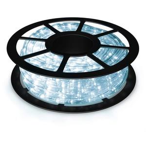 COSTWAY LED-Lichterschlauch 10M Lichterschlauch mit 360 LEDs weiß