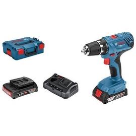Bosch GSR 18V-21 Professional inkl. 2 x 2 Ah + L-Boxx 06019H1008