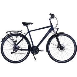 HAWK Bikes Trekkingrad Trekking Gent Deluxe Ocean Blue, 27 Gang, Shimano, Alivio Schaltwerk blau Trekkingräder Fahrräder Zubehör