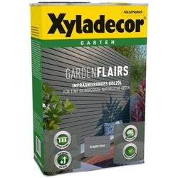 Xyladecor Holzöl Garden Flairs, für Gartengestaltung, graphit grau, 0,75 l