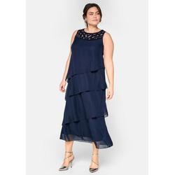 Sheego Abendkleid in figurumspielender Form blau 58